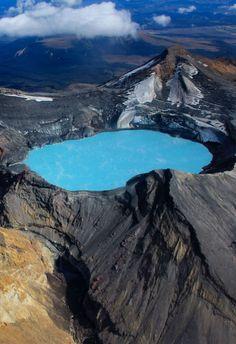 Travel: Emerald crater, Lake Tongariro, New Zealand