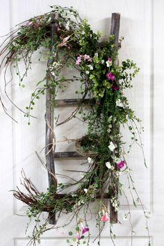 Primitive Decor Front Door Decor Spring Wreath by FloralsFromHome