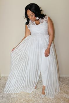 Designer Spotlight: Currently Obsessed with Joni Marie Ross Vestidos Plus Size, Plus Size Dresses, Plus Size Outfits, All White Outfit, White Outfits, White Dress, Plus Size White Outfit, Plus Size White Jumpsuit, Looks Plus Size