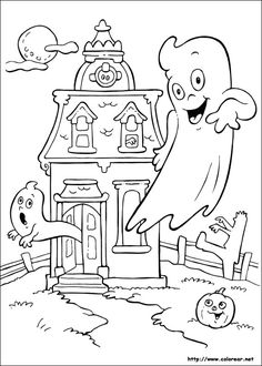 Coloring Sheets for Kids Halloween Beautiful Halloween Coloring Pages House Colouring Pages, Fall Coloring Pages, Free Coloring, Adult Coloring Pages, Coloring Pages For Kids, Coloring Books, Kids Coloring, Halloween Coloring Pictures, Free Halloween Coloring Pages