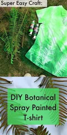 Easy Craft: DIY Botanical Spray Painted T-shirt