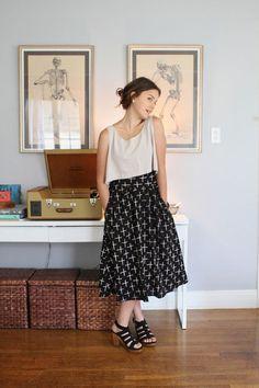 Que tal esse look da atriz Allison Miller pro nosso outono com carinha de verão…