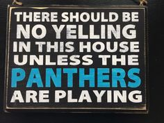 New Carolina Panthers Fan Wood Sign Front Door Super Bowl from $27.5