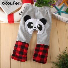 okoufen baby boy and girl pants Children's cartoon cute  PP pants best quality cotton kids trousers