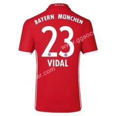 2016/17 Bayern München VIDAL Home Red Thailand Soccer Jersey
