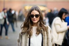 Street Style: Olivia Palermo, if only for her hair. Street Chic, Street Style, Street Snap, Clothes Encounters, Fashion Gone Rouge, Olivia Palermo Style, Stylish Couple, She Is Clothed, Fall Looks