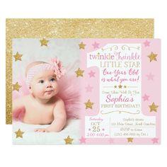 108 Best Twinkle Twinkle Little Star Birthday Party Invitations 1st