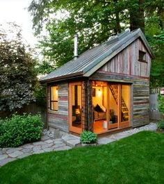 Would be a great canning/BBQ cabin. It just needs a huge pit and smoker out in front!