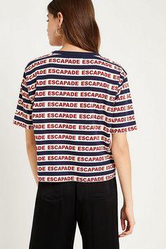 Slide View: 2: UO Escapade Striped T-Shirt