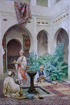 'The Courtyard', 1880 - Federico Bartolini (Italian)