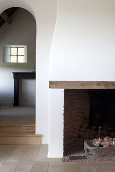 Beautifully simple fireplace