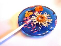 Edible Flower Petals Preserved Inside Lollipops