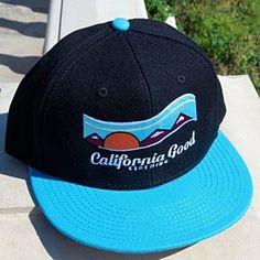 California Good Logo Hat (midnight black & ocean blue) by California Good Clothing on Opensky