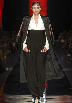 Black and White -> Strict chic  Jean Paul Gautier