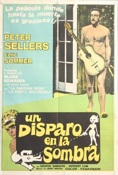 """Argentine poster for """"A Shot in the Dark"""" (1964)"""