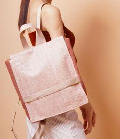 Straw Handbags, How To Make Handbags, Burlap, Reusable Tote Bags, Fabric, Women, Fashion, Tejido, Tela