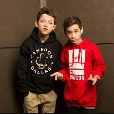 I like how Jacob is wearing a Cameron Dallas sweatshirt...