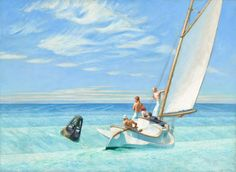 Edward Hopper, Ground Swell, 1939, oil on canvas, Corcoran Collection (Museum purchase, William A. Clark Fund), 2014.79.23 Masterworks from the Corcoran, 1815-1940