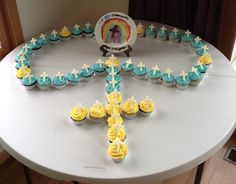 First Communion Cupcake  Rosary-- Created by Amy Canda.