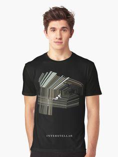 T-shirt graphique 'Interstellar' par Laura Frère Interstellar, Bold Colors, Nasa, Chiffon Tops, Shirt Designs, T Shirt, Cinema, Film, Illustration