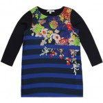 Junior Gaultier Kleid MAFALDA in marine/bunt in Gr. 98 für Mädchen Kinderkleidung Mädchen