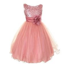 COCKCON Dresses Children Ball Gown Princess Wedding Party Dress Girls Summer Party Clothes 3-15Y Girls