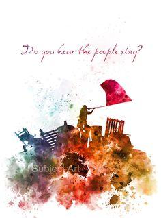 Ilustración de los Miserables de lámina, barricada batalla cita, película, película, arte de la pared, decoración del hogar