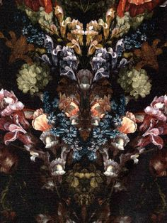 Alexander McQueen floral digitized print pattern