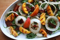 Peaches, Onion and Bacon