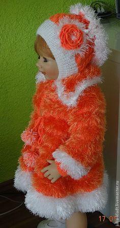 widgeon girls coats orange-white