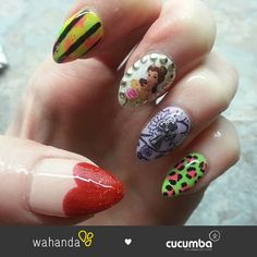 Gorgeous mash up nails from Cucumba https://www.wahanda.com/place/cucumba-soho/