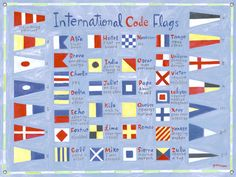 International sailing flags I am learning the alphabet all over again!