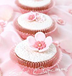 Elegant Flower Embossed Cupcake