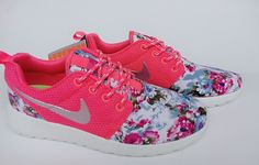 new product 28998 45aa7 Nike Roshe Run Floral 2015 Flower Hyper Pink Metallic Silver Running Shoes  USA Sale 2015