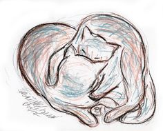 Daily Sketch Reprise: Love Cats, 2012