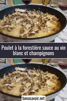 Forest-style chicken with white wine sauce and mushrooms- Discover this forest chicken recipe. Chicken in forest sauce is a classic. Basically the forest sauce is prepared with white wine. A truly excellent recipe. Hamburger Meat Recipes Ground, Easy Meat Recipes, Healthy Chicken Recipes, Wine Recipes, Great Recipes, Cooking Recipes, Cuisine Diverse, Wine Sauce, Creamy Chicken
