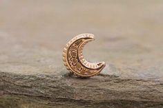 Moon Rose Gold Nose Ring Nose Stud