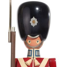 the King's Guardsman by Kay Bojesen  Denmark  1950s  A rare model of the hand-painted soldier with movable arms and legs by Kay Bojesen