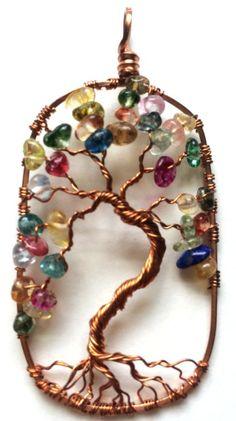 Tree of Life Jewelry, tree jewelry handmade in the USA, Gemstone tree jewelry, celtic tree jewelry, bonsai tree, moon tree, sun tree, birthstone tree pendants,