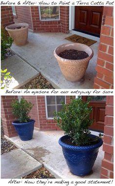 Transformez vos pots de fleurs en terre cuite!