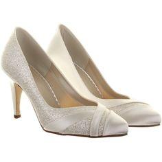 1a68db05dbc Buy Rainbow Club Mila Extra Wide Fit Glitter Satin Strip Court Shoes