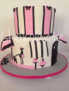 Torta Paris  Paris Cake Tortas temáticas Cali  318-502-2822 Fiestas Cali