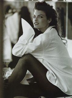 """Simplice"", Linda Evangelista by Peter Lindbergh for Vogue Italia, September 1988"