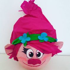 Pinata Trolls Pinata is made to order. The game of piñata, involves all the participants of the feast bringing joy and fun. Made with paper mache covered with tissue paper ready to be broken and create a shower of candy (not included) We do not accept returns.