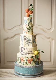 Italian-inspired wedding cake. Canada's Prettiest Wedding Cakes For 2016 | Weddingbells