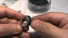 How to bead a bezel for a faceted stone that looks like a real gem setting. (There's a link to Toho Shoji and I saw all of the different CZ mountees, including the little square ones he used.)