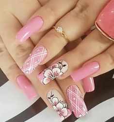 What manicure for what kind of nails? - My Nails Fancy Nails, Trendy Nails, Cute Nails, My Nails, Beautiful Nail Art, Gorgeous Nails, Beautiful Nail Designs, Beautiful Beautiful, Spring Nails