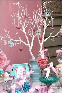 Like the painted branch and can hang anything...even paper ornaments that have a picture with a theme.