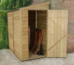 Pent-Overlap-Pressure-Treated-6x3-Wooden-Wall-Shed-Lean-To-Garden-Storage