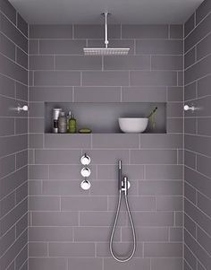 Nice design. Dunno about the rain shower head thing, but a person can get used to anything.